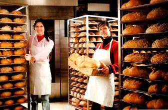 Adult Girls in Bakery