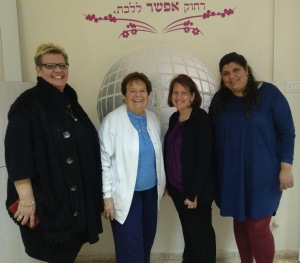Antje, Janet, Rabbi Wolintz and Rabbi Levy