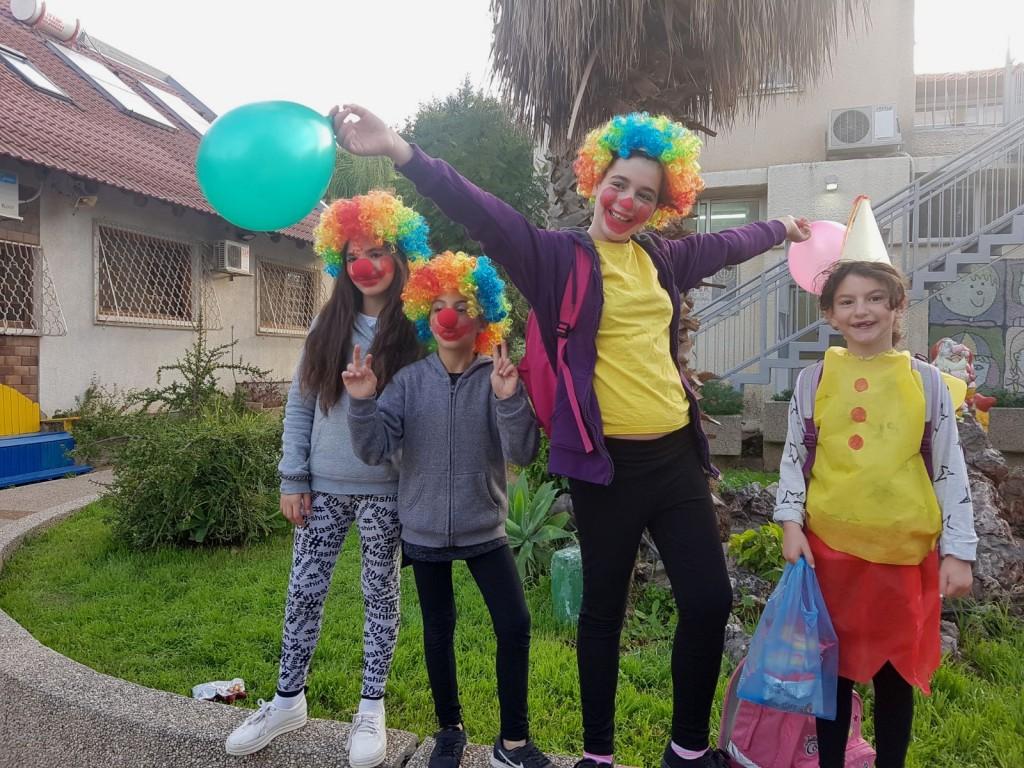 Children of Neve Hanna celebrating Purim